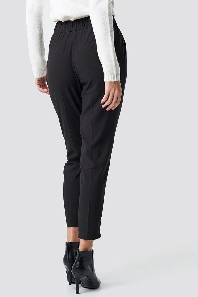 High Waisted Trousers Black