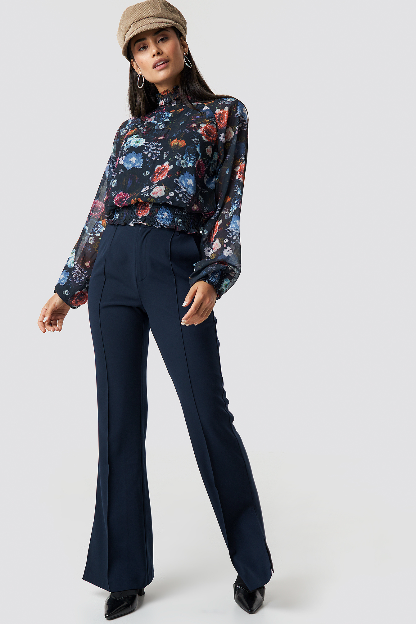 Flower Long Sleeve Blouse NA-KD.COM