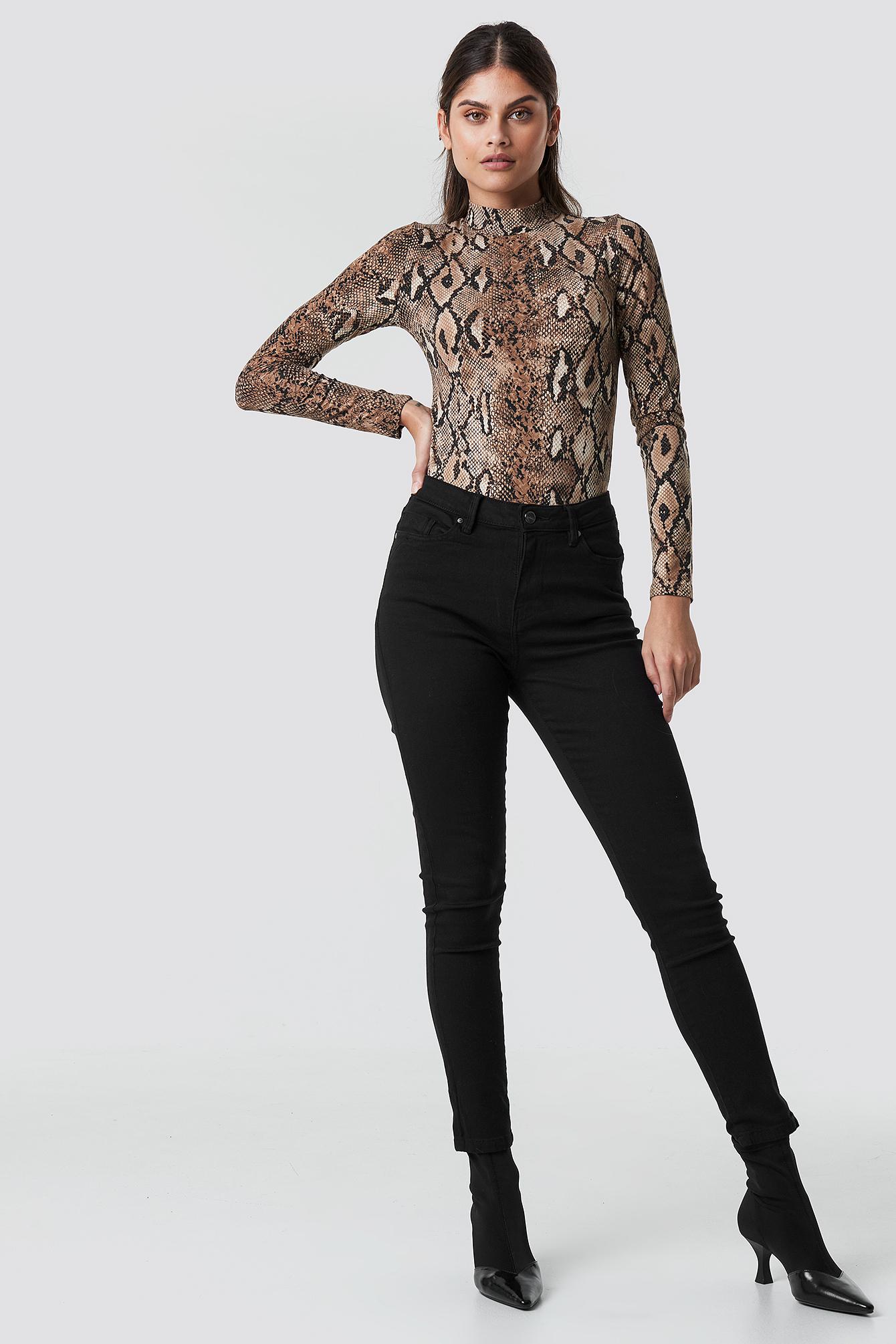 TOP SECRET Skinny Ts Black Jeans - Black