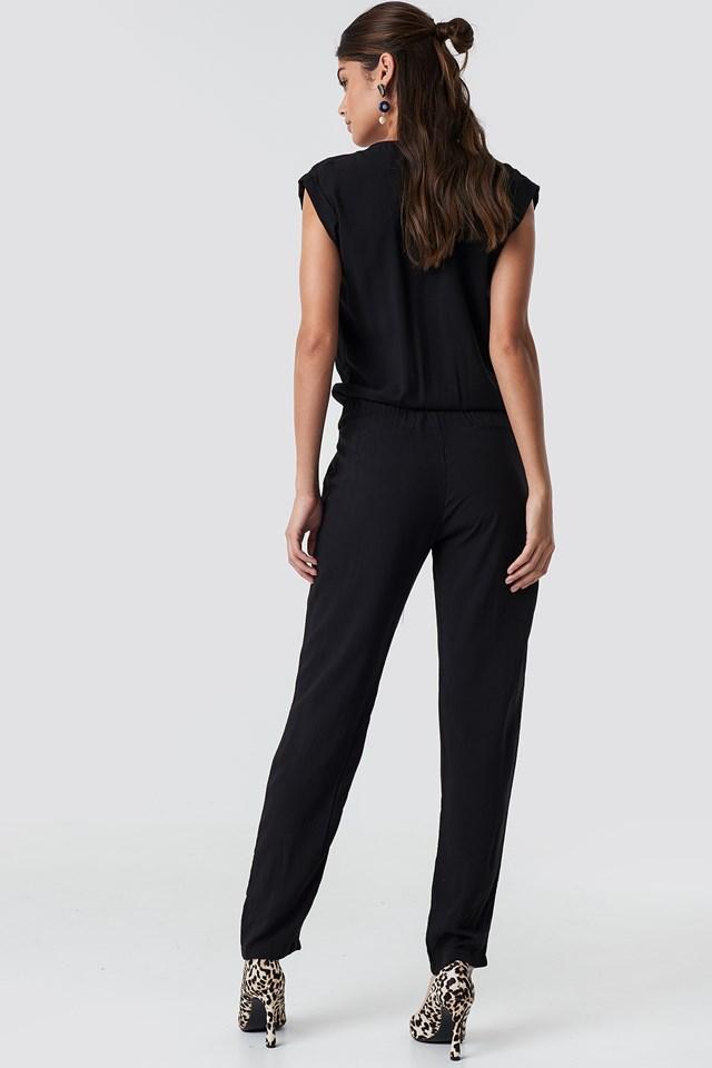 Zipper Jumpsuit Black