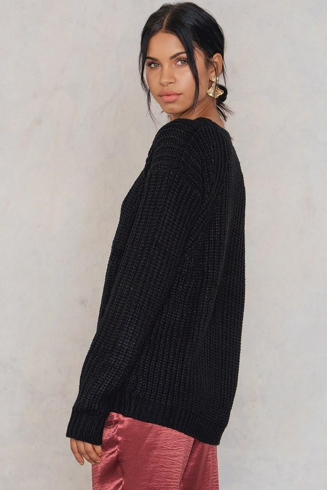 Tora sleeve hole knit NA-KD.COM
