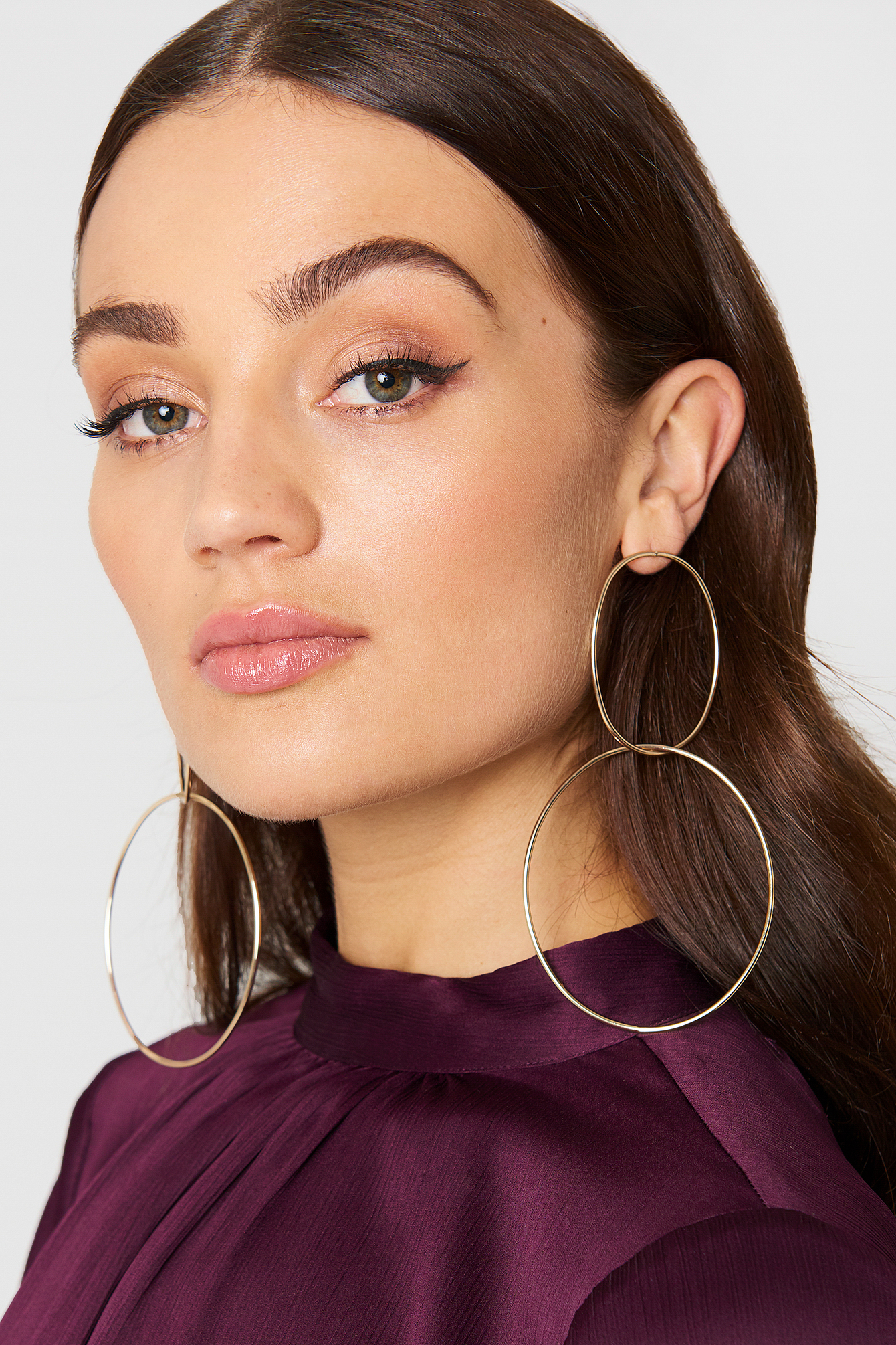 tranloev -  Double Ring Earrings - Gold