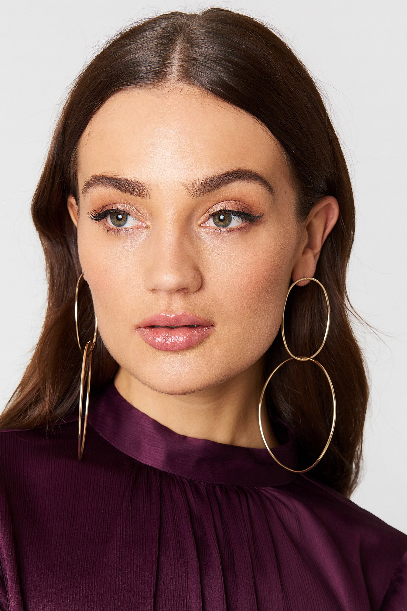Double Ring Earrings NA-KD.COM