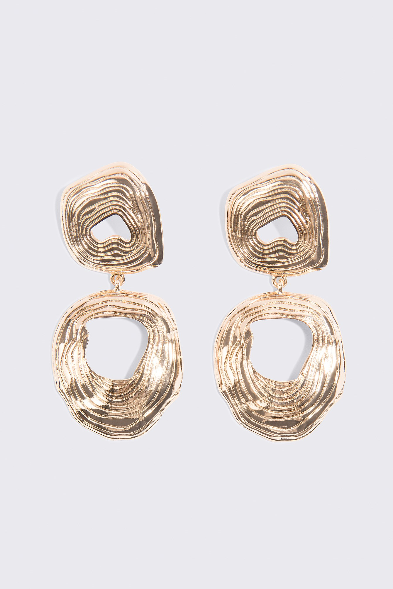 Double Round Hanging Earrings NA-KD.COM