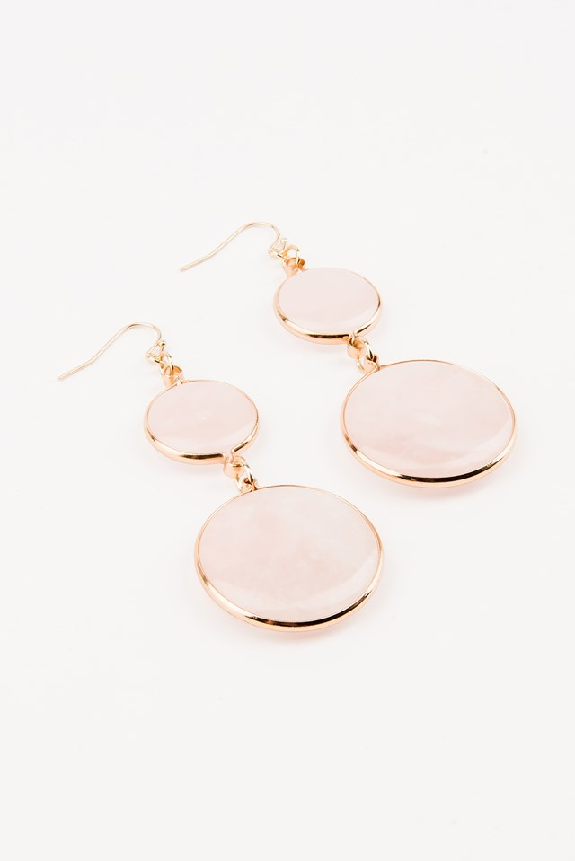 Guava Pink Gold Earrings Pink
