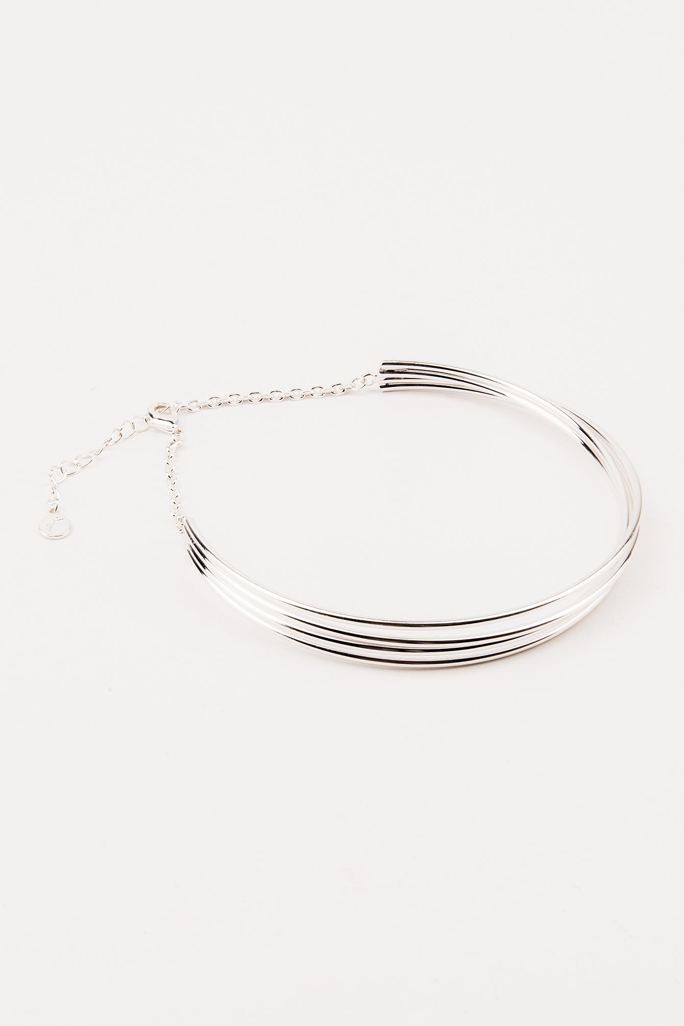 Tranloev Layered Choker - Silver