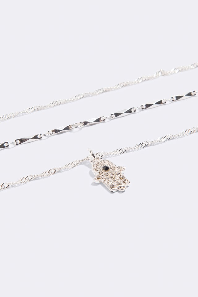 Layered Hamsa Hand Necklace NA-KD.COM