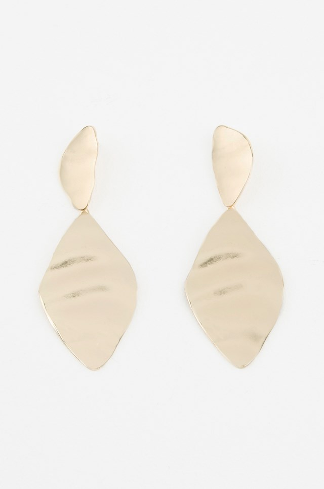 Melted Romb Earring Gold
