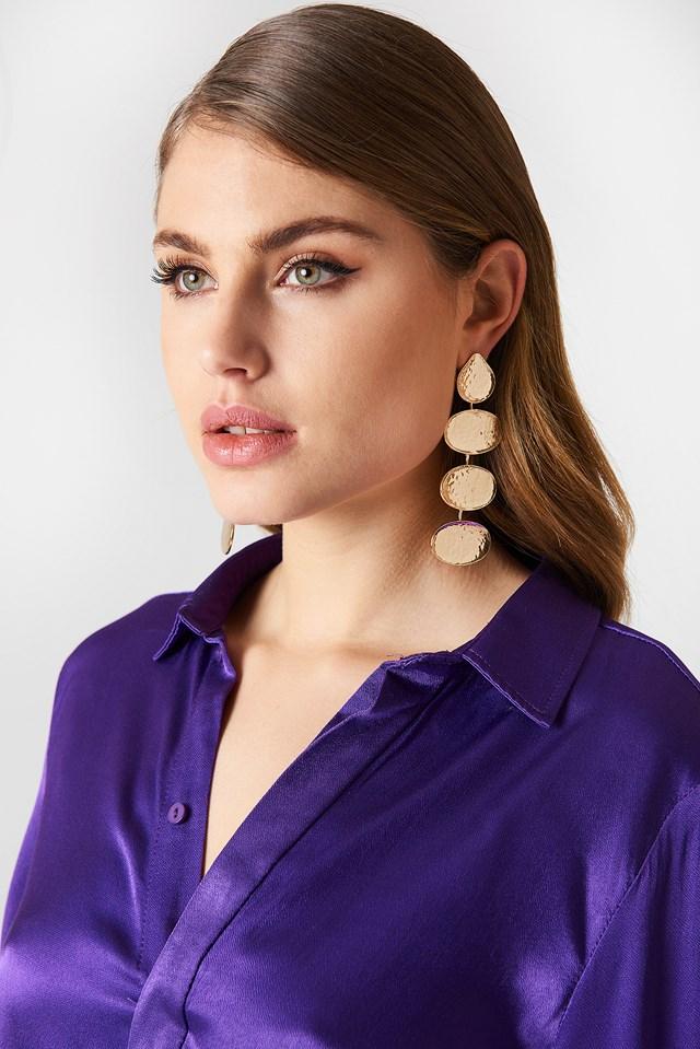 Multi Hanging Structured Earrings Tranloev
