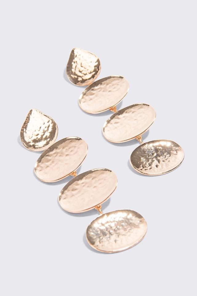 Wiszące kolczyki Gold