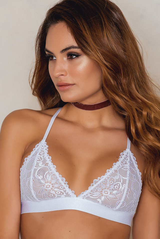 Multistrap Back Bra White