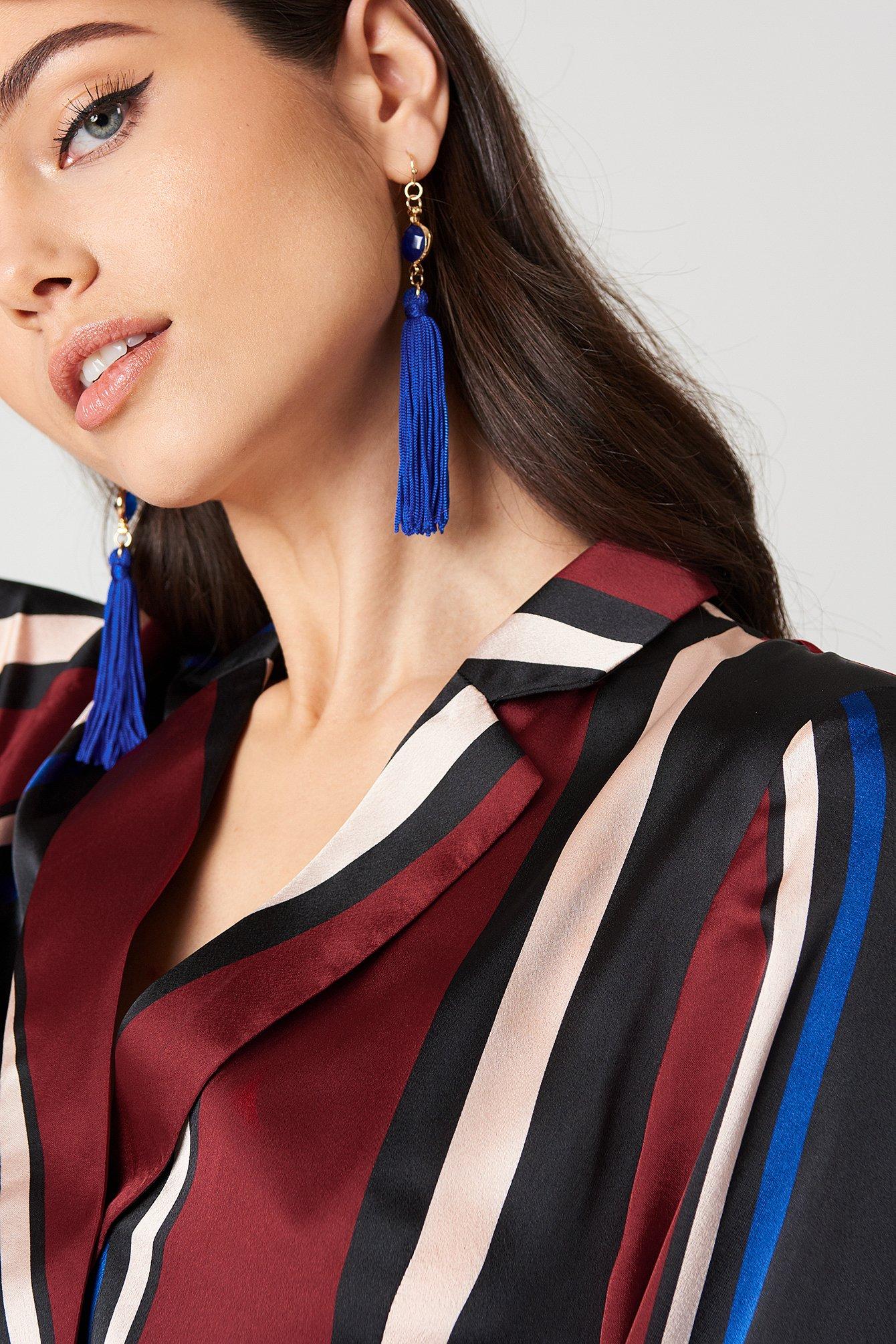 One Stone Tassel Earring NA-KD.COM