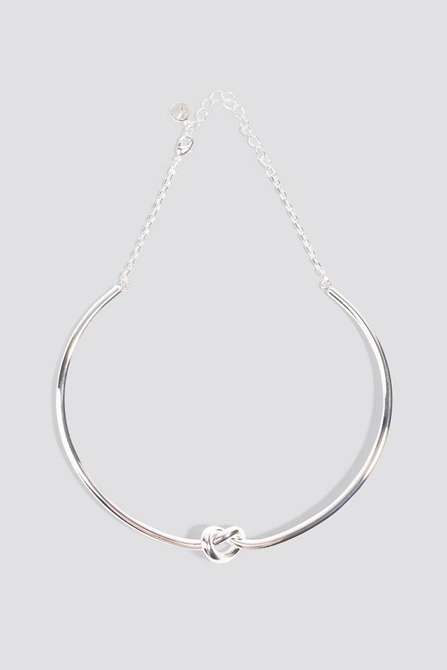 Single Knot Choker Silver