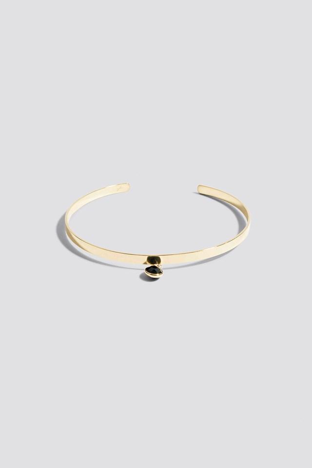 Stiff Stone Choker Gold/Black