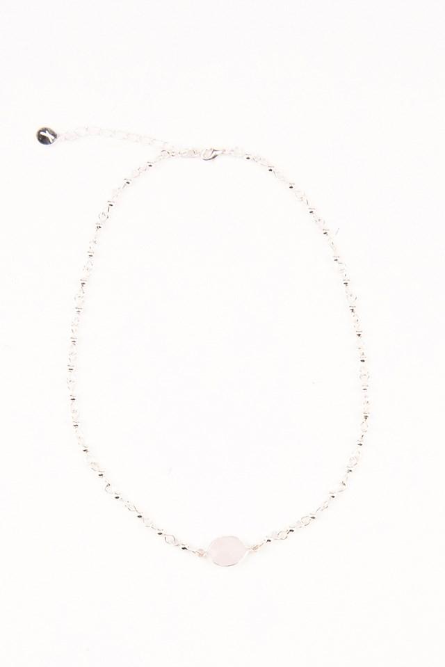 Stone Choker Silver/Pink