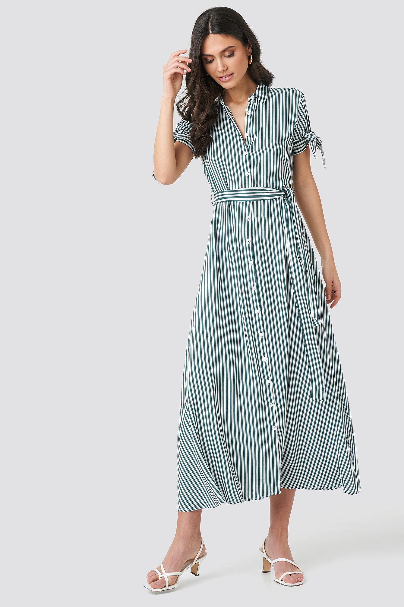 Tulum Striped Long Dress NA-KD.COM