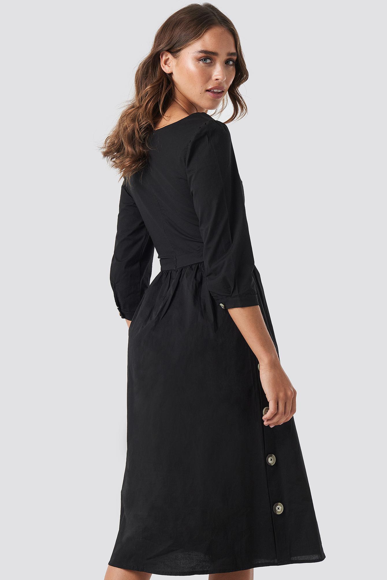 Side Buttoned Dress NA-KD.COM