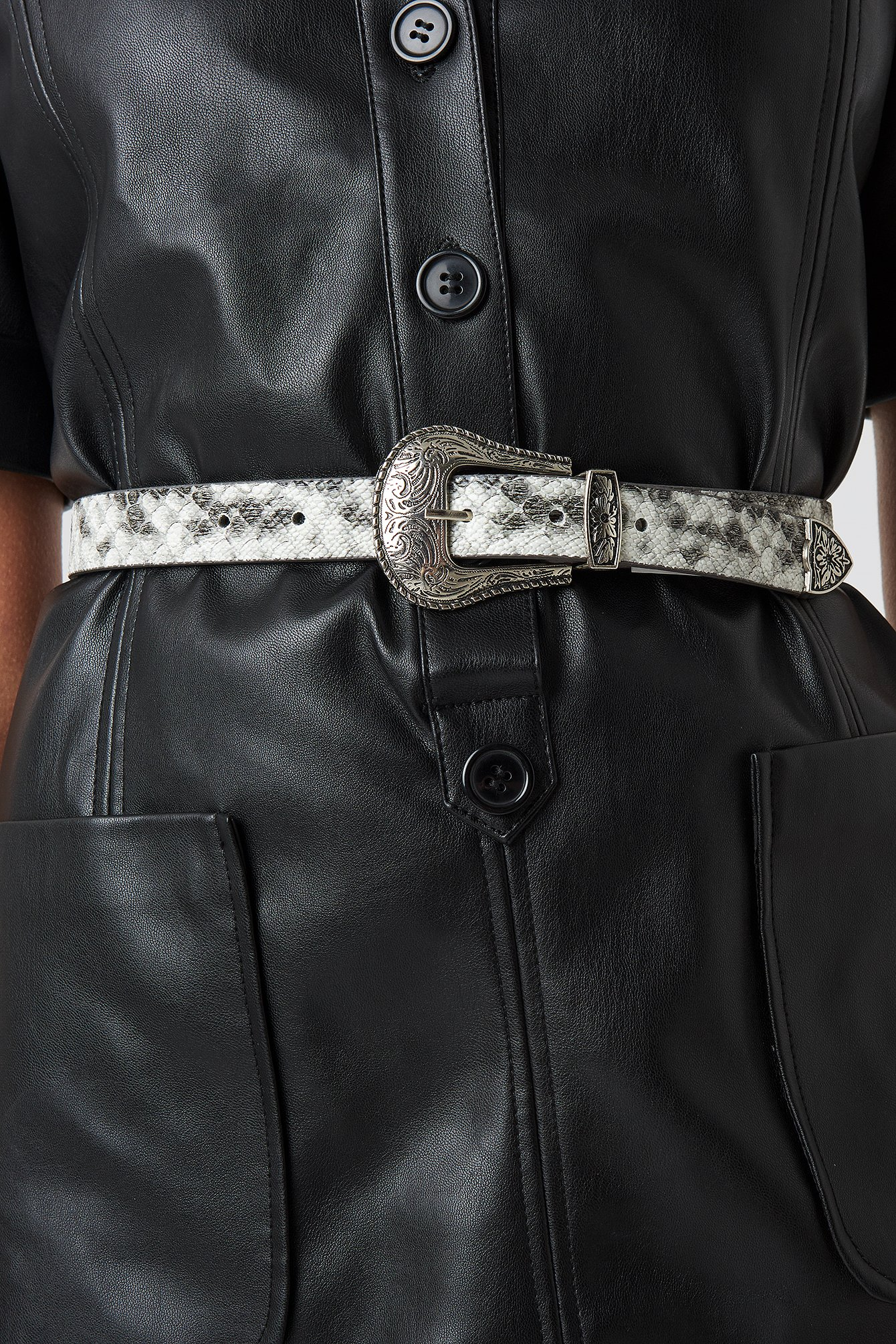 Snake Pattern Buckle Belt NA-KD.COM