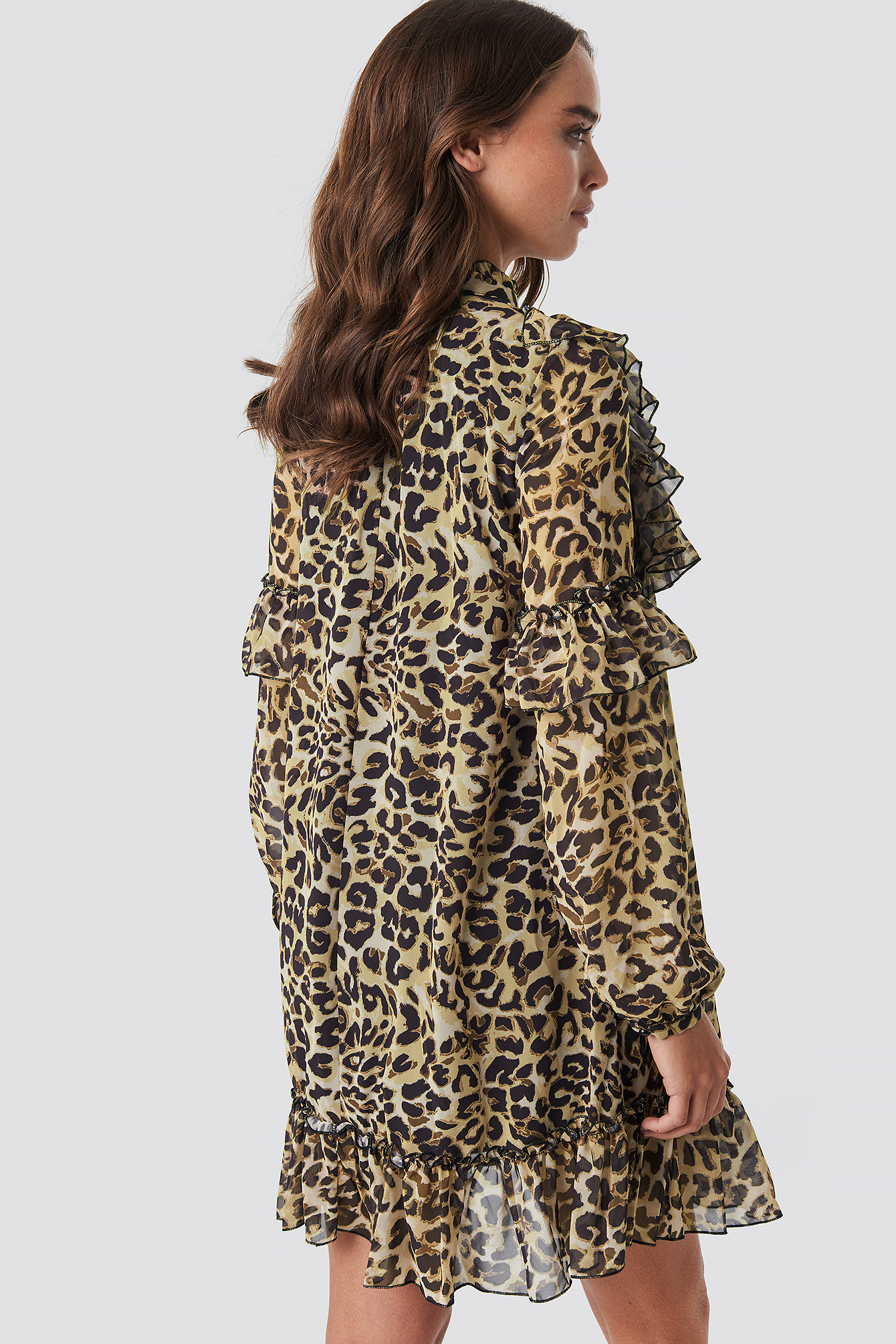 Yol Leopard Patterned Dress NA-KD.COM
