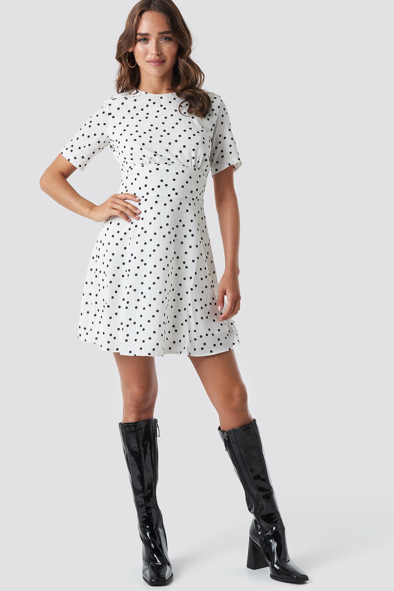 Yol Polka Dot Dress NA-KD.COM