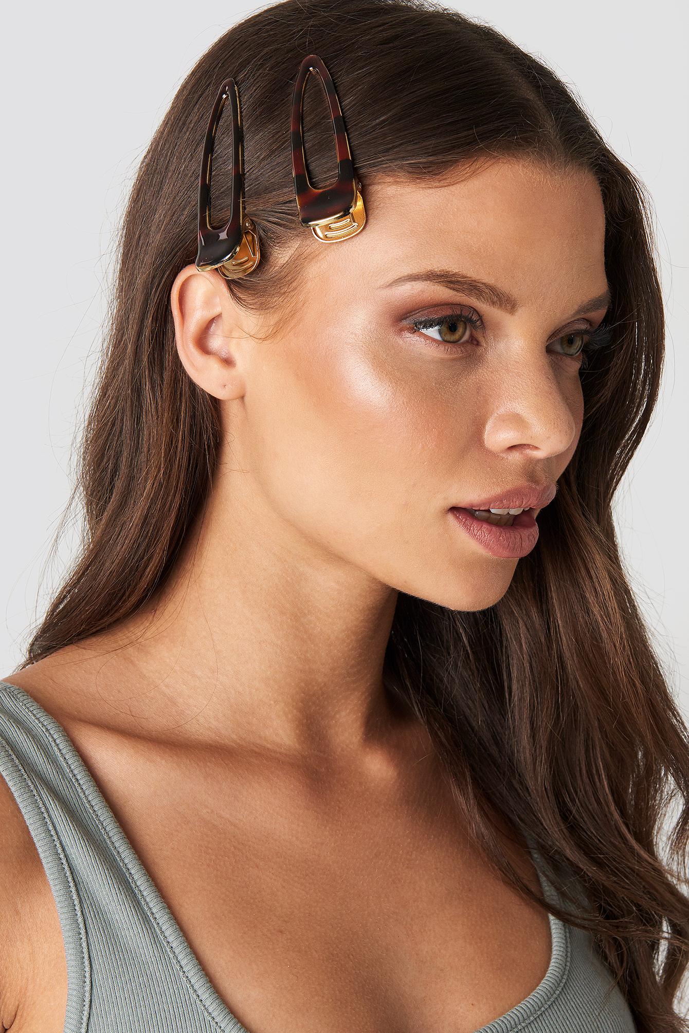 trendyol -  2-Pack Hair Clip - Brown