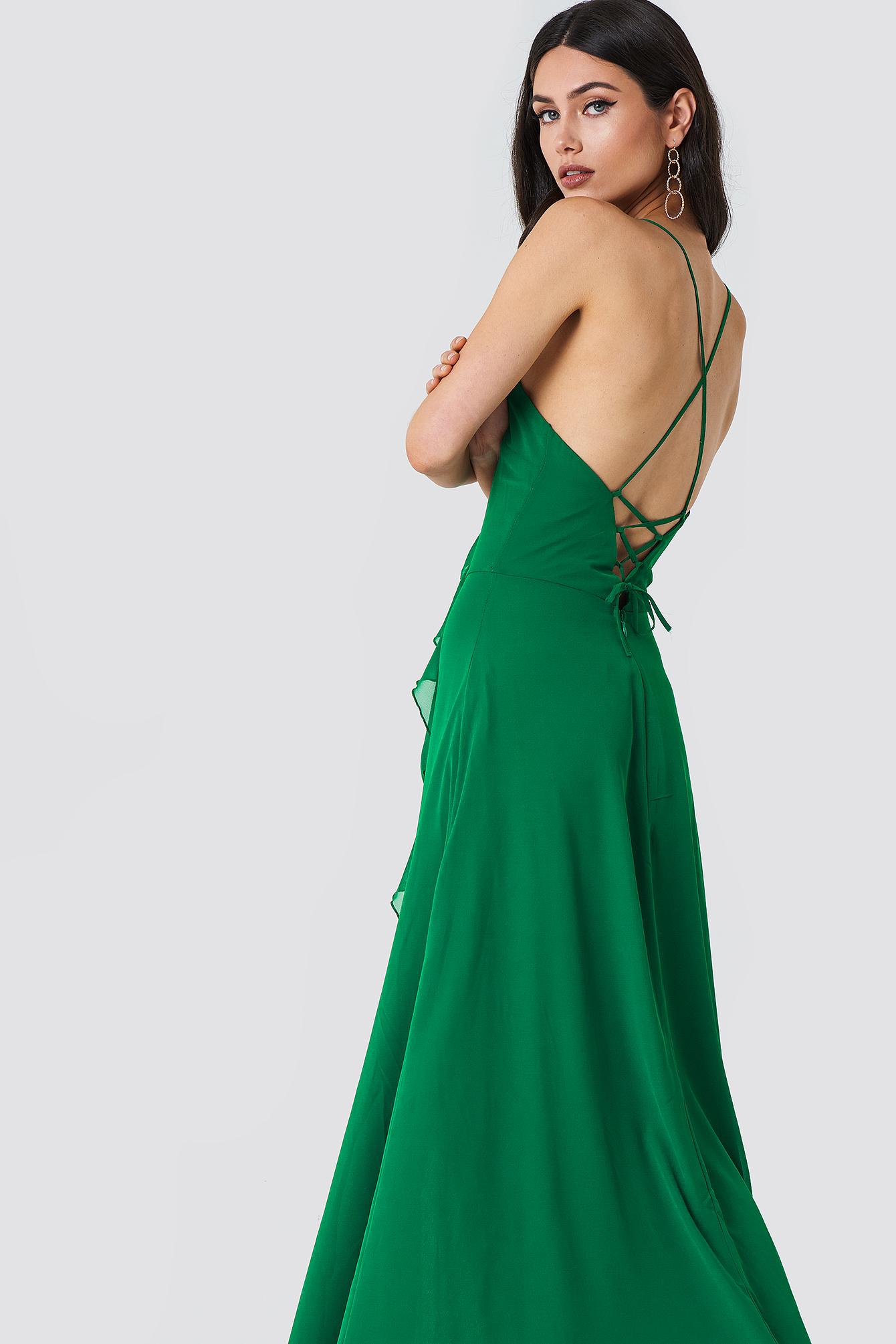 Abiye Frill Maxi Dress NA-KD.COM