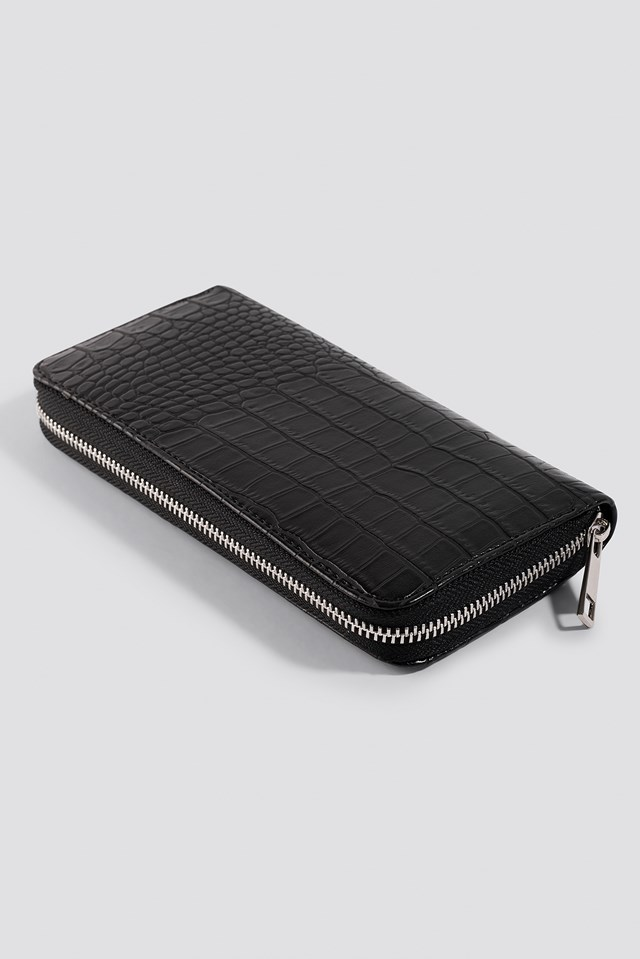 Animal Pattern Wallet Black