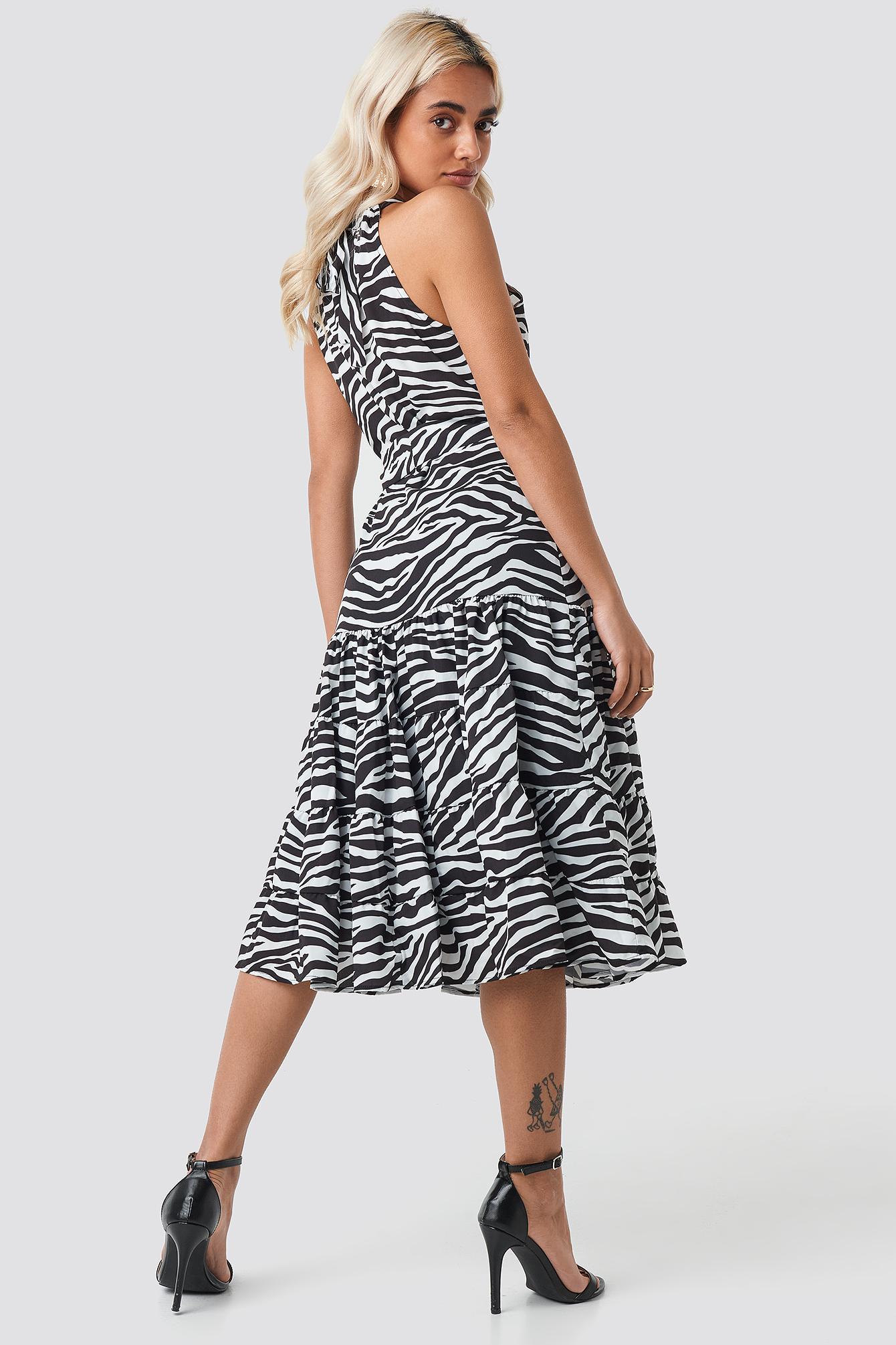 Animal Print Midi Dress NA-KD.COM