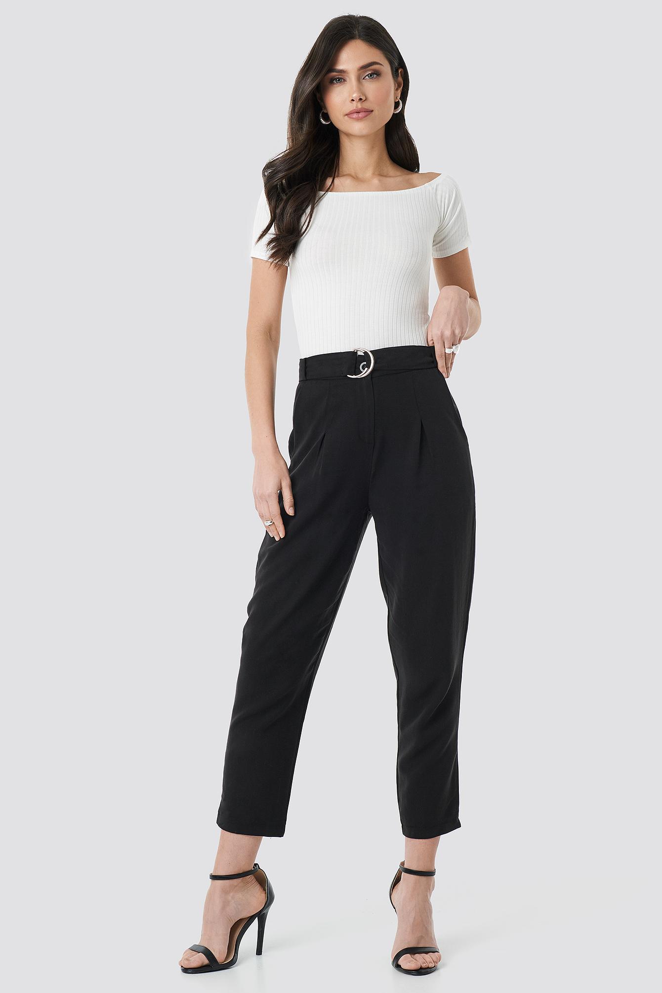 Arched Lyocell Pants NA-KD.COM
