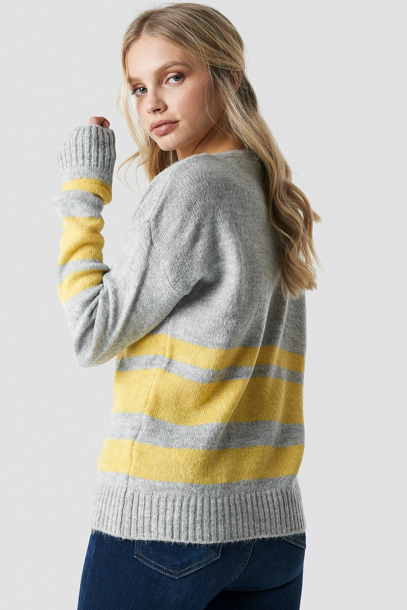 Arm Striped Knitted Sweater NA-KD.COM