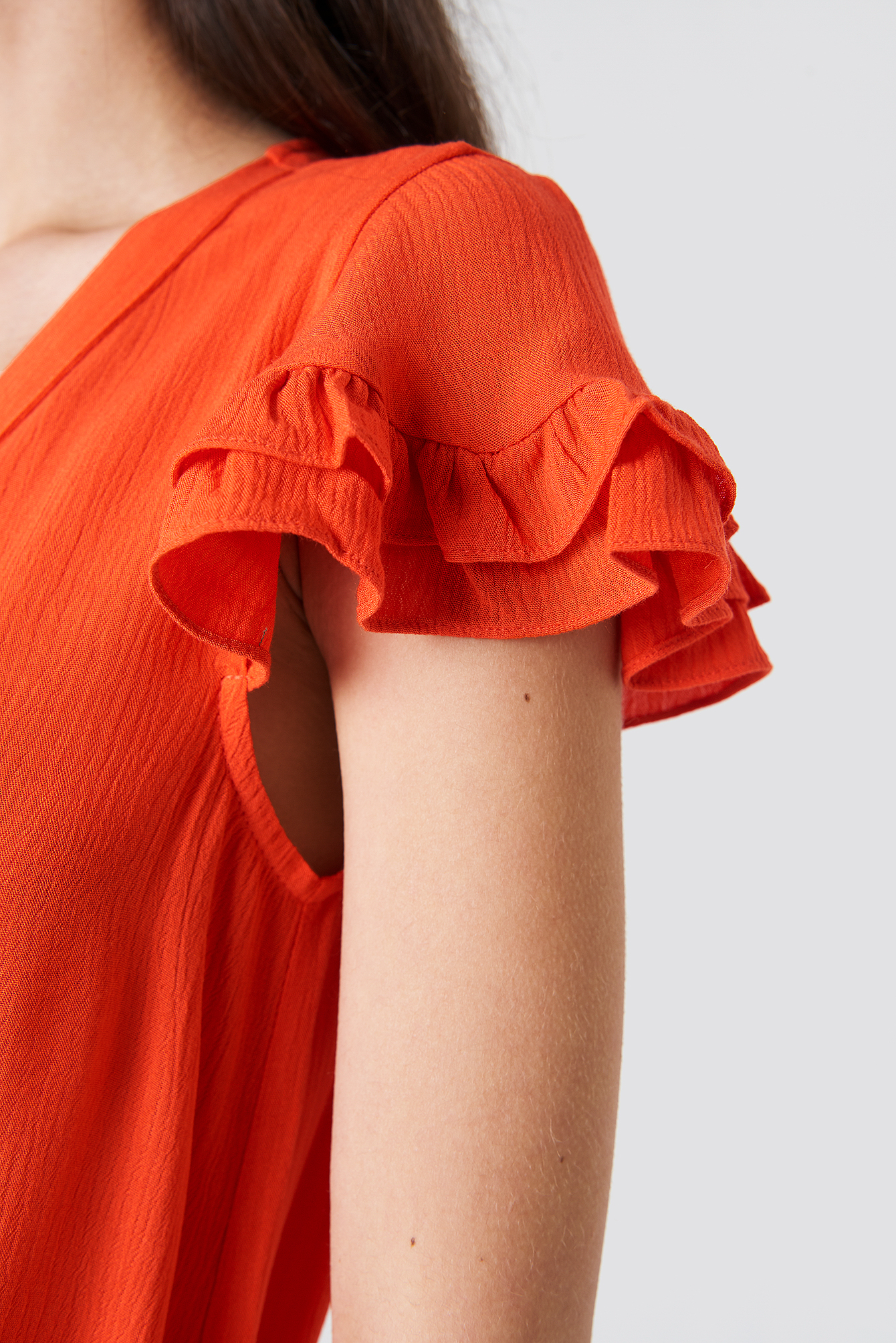 Asymmetric Button Detailed Maxi Dress NA-KD.COM
