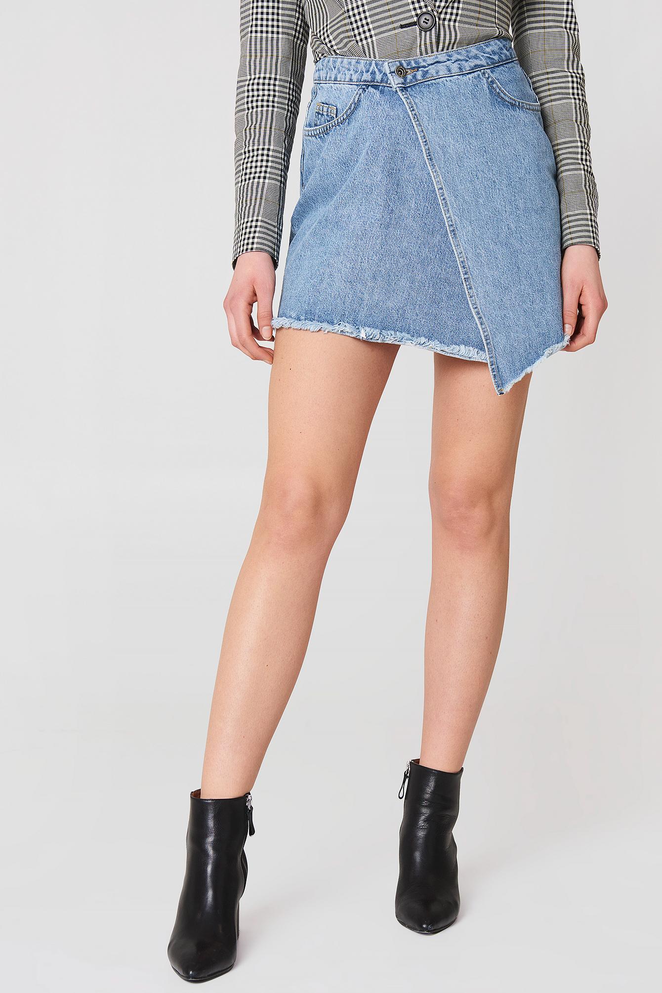 Asymetryczna spódnica dżinsowa NA-KD.COM