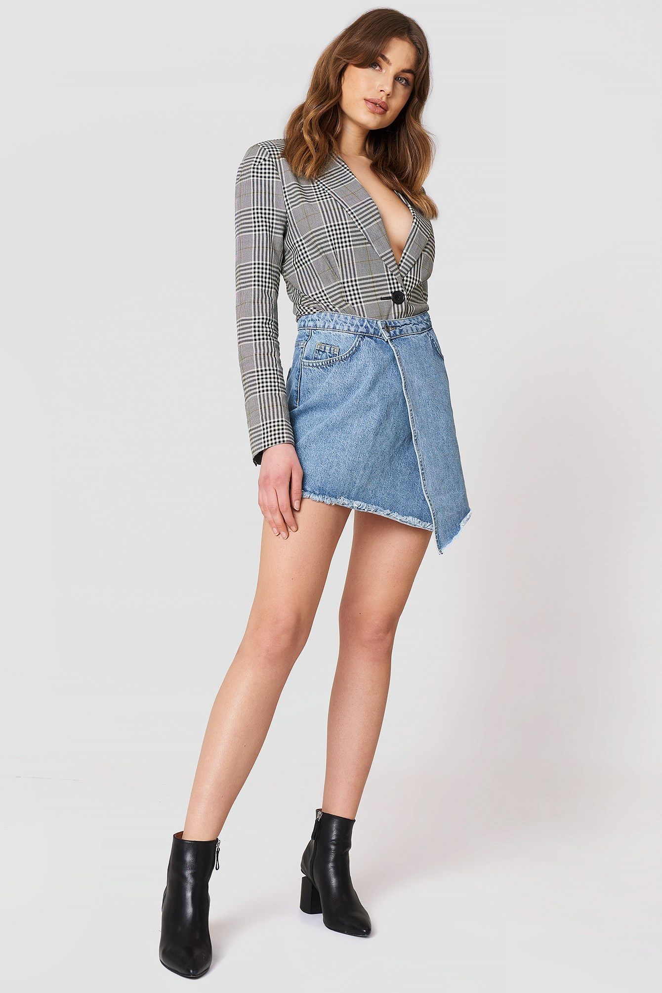 Asymmetric Cut Denm Skirt NA-KD.COM
