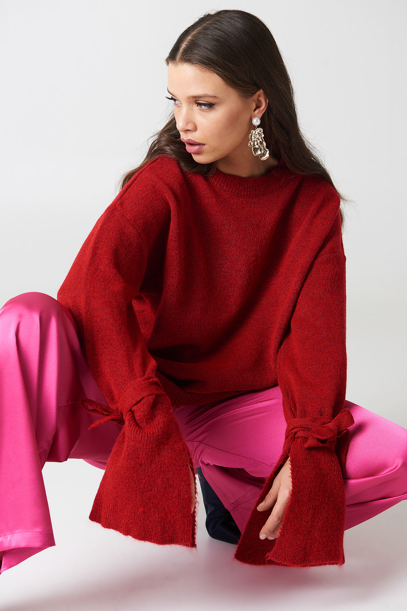 Asymmetric Hem Sweater NA-KD.COM