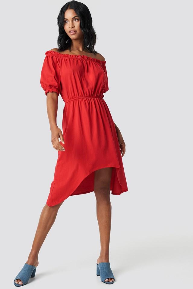 Asymetryczna sukienka Red