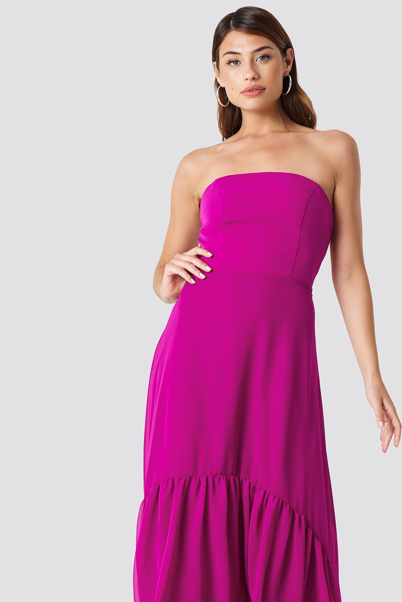Asymetryczna sukienka maxi NA-KD.COM