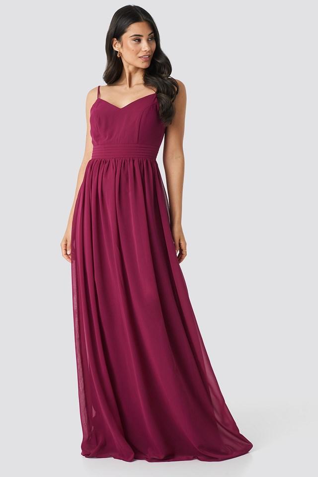 Back Detailed Evening Dress NA-KD.COM