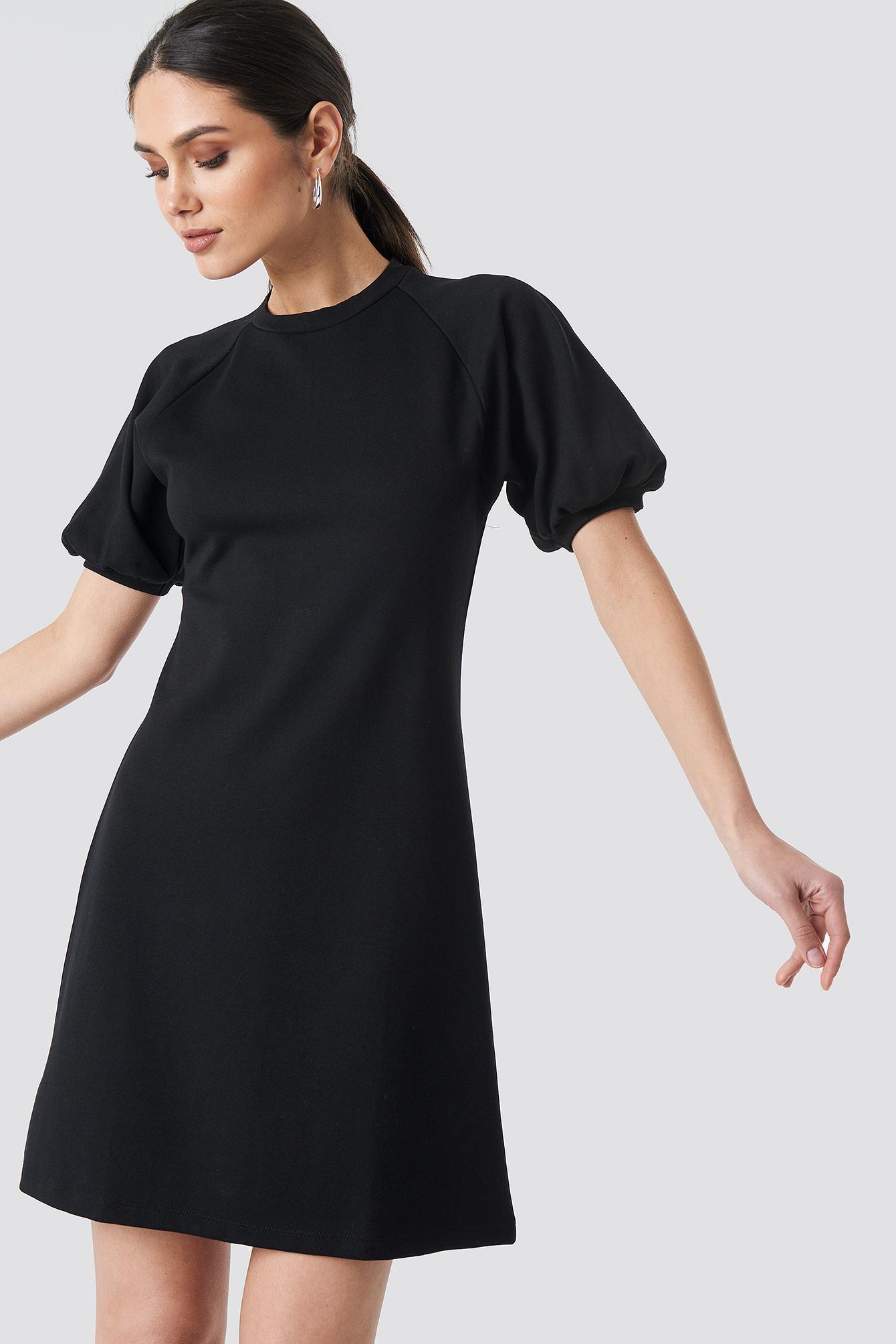 Balloon Sleeve Knitted Dress NA-KD.COM