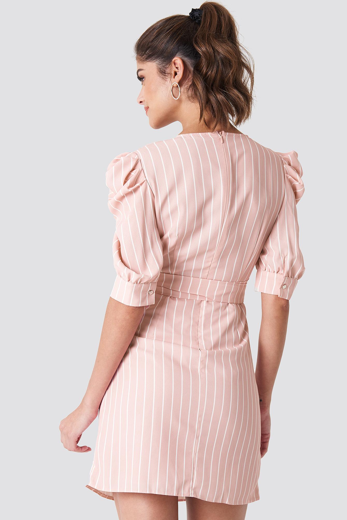 Ballon Sleeve Midi Dress NA-KD.COM