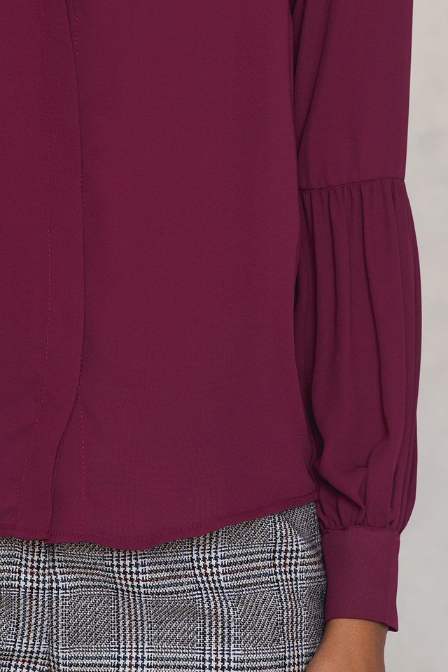 Balloon Sleeve Blouse Damson