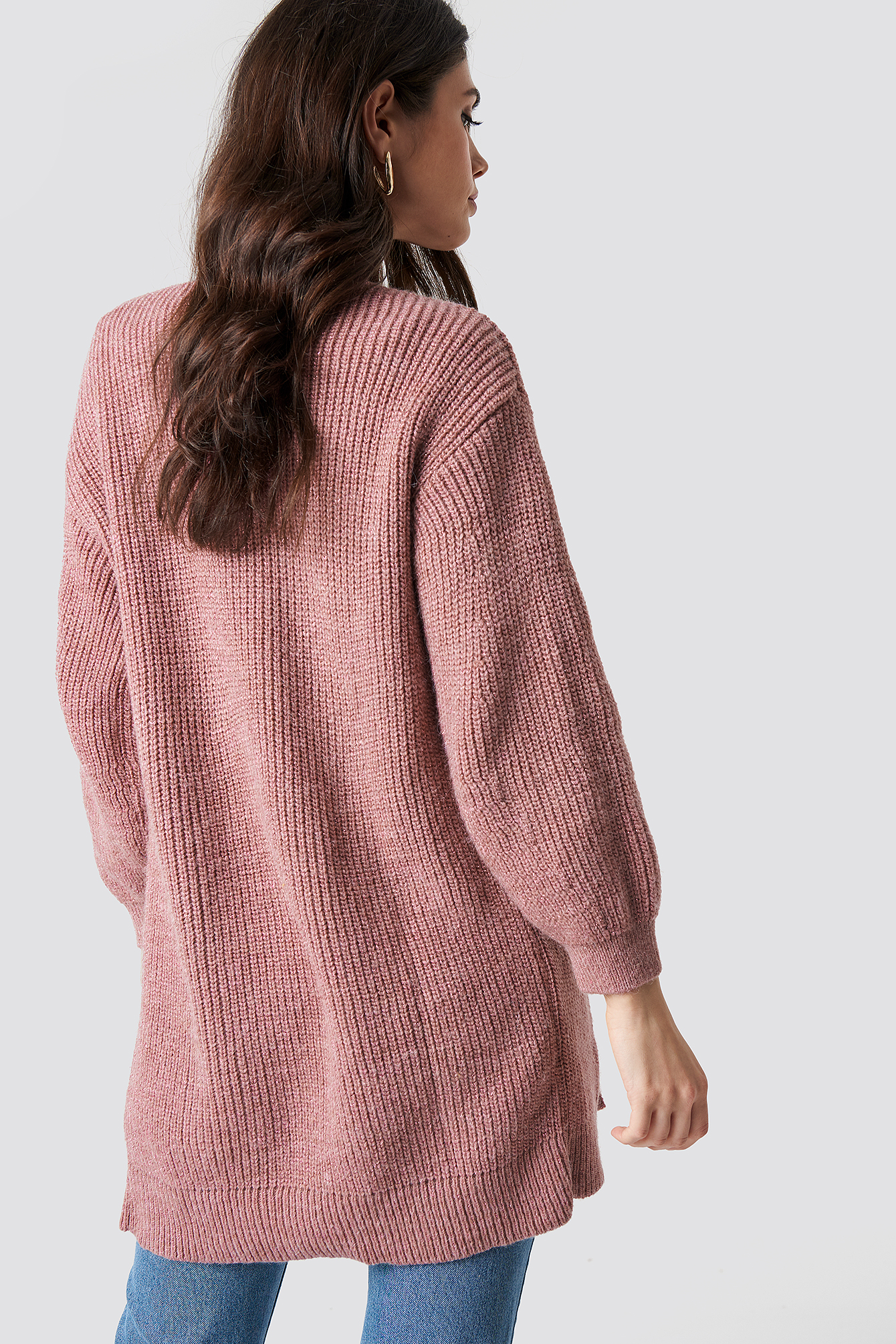Balloon Sleeve Knitted Cardigan NA-KD.COM