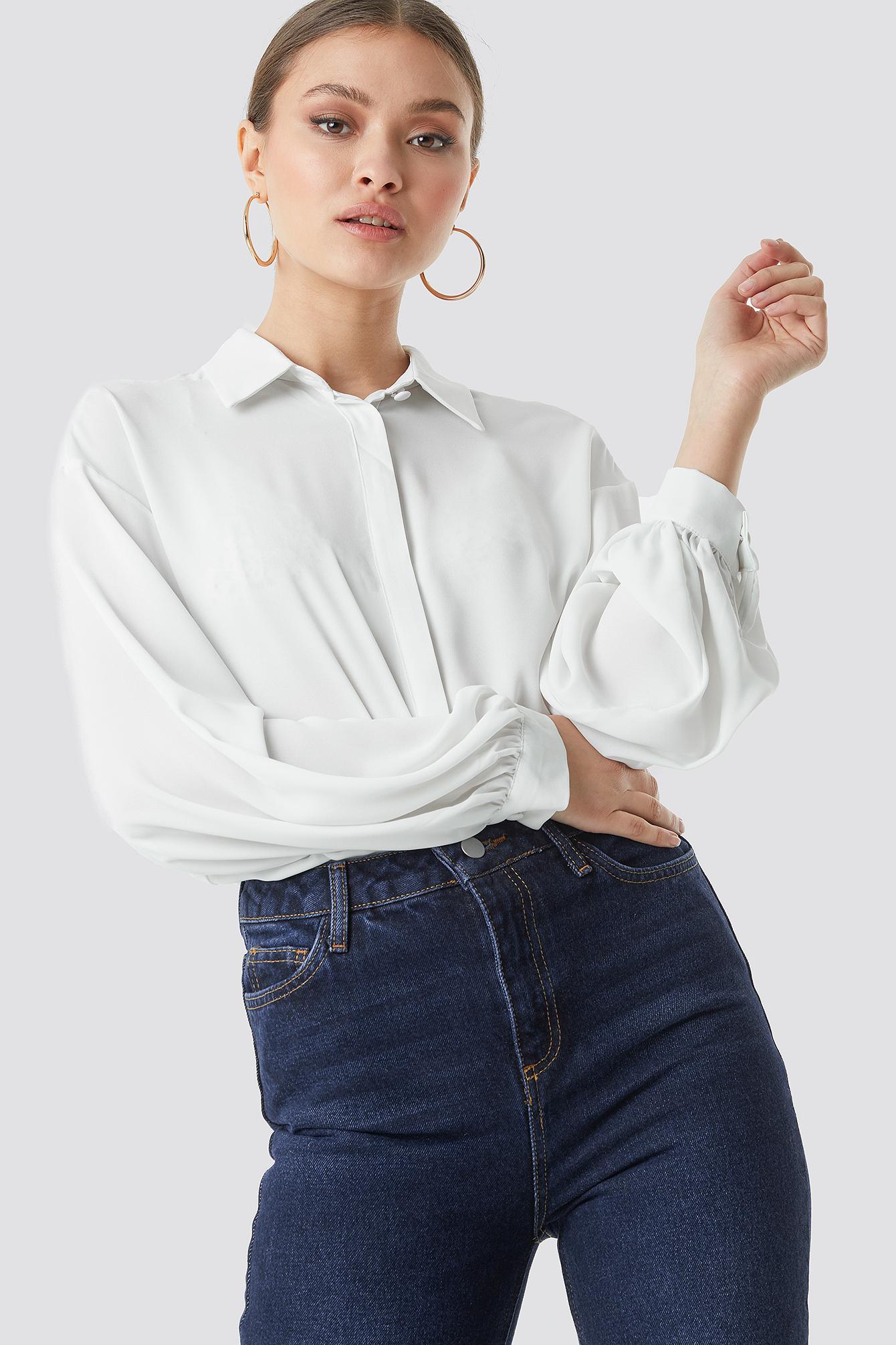 Balloon Sleeve Shirt NA-KD.COM