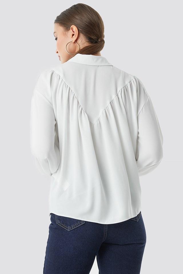 Balloon Sleeve Shirt Stone