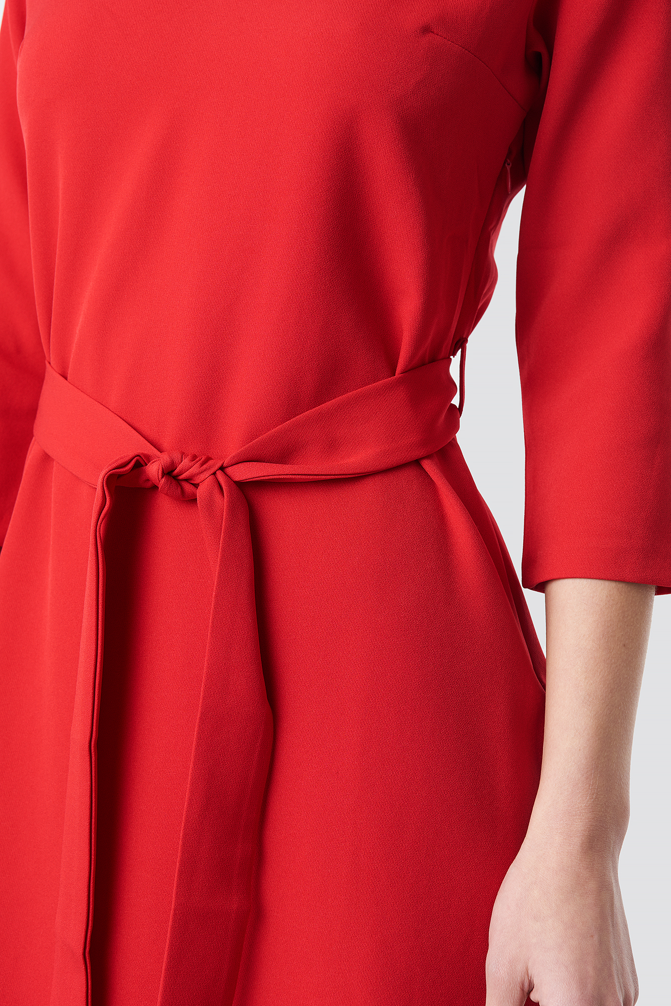 Basic Belted Dress NA-KD.COM