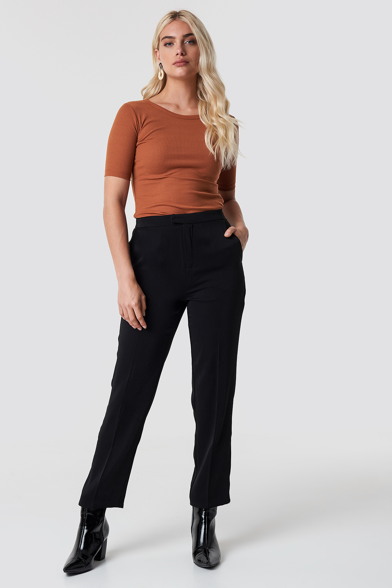 Basic Camisole Knitted Tee NA-KD.COM