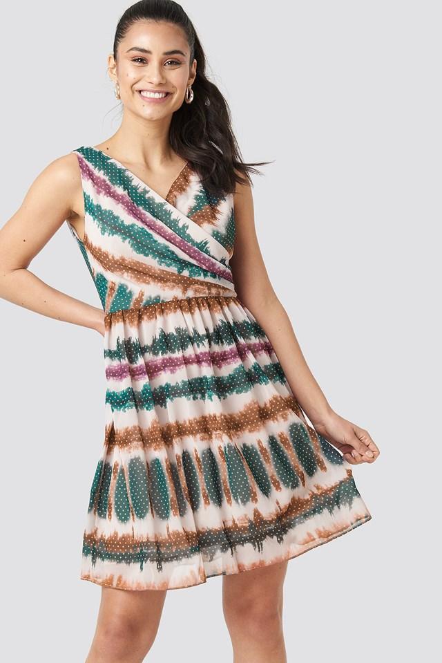 Batik Patterned Mini Dress NA-KD.COM