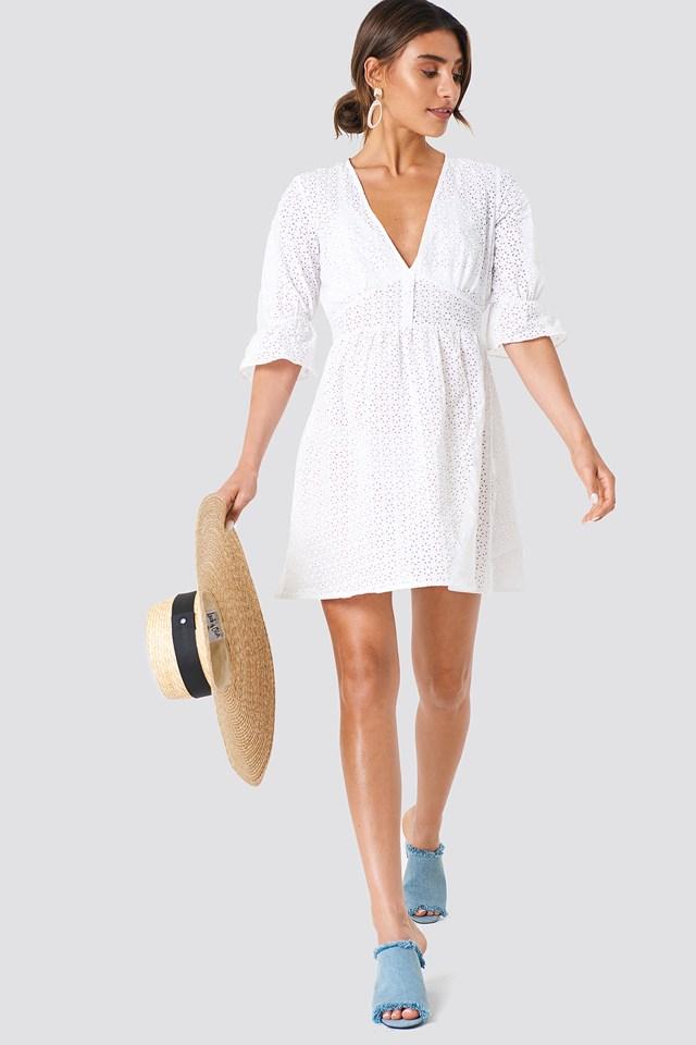 Beach Midi Dress White