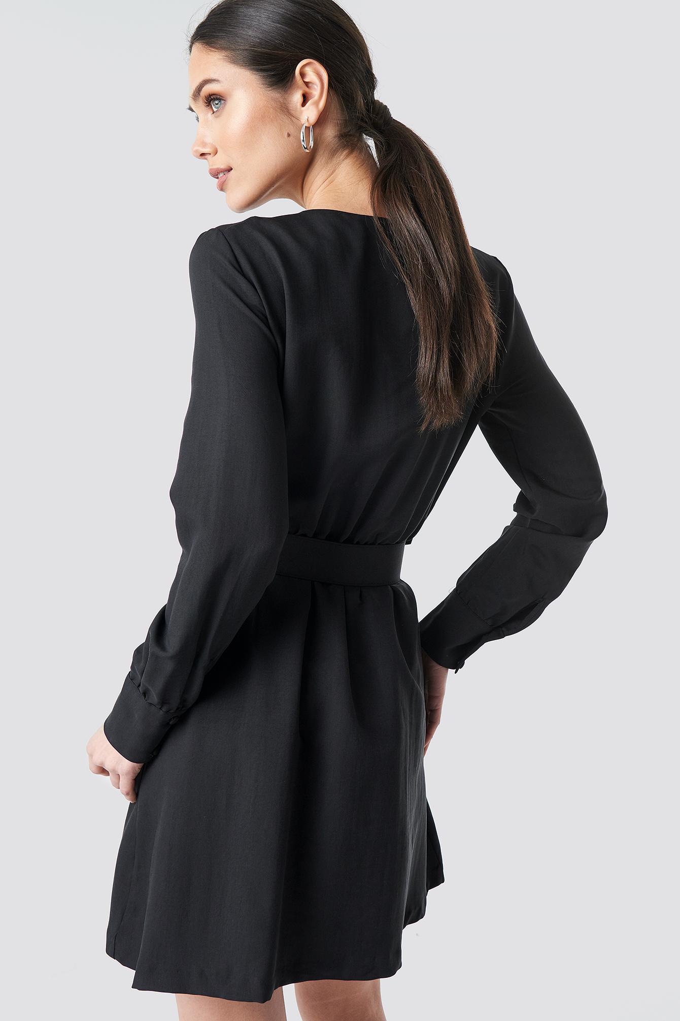 Belt Detailed Midi Dress NA-KD.COM