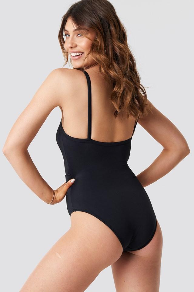 Belt Detailed Swimsuit Black