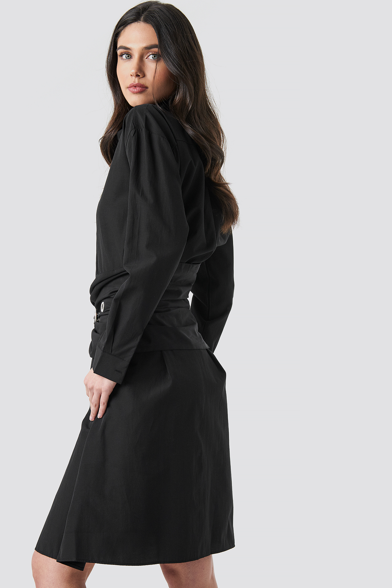 Belt Midi Dress NA-KD.COM